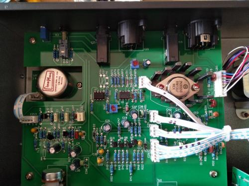 Warm Audio 76 audio compressor in for repairs, it was suffering from meter offset drift.